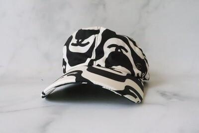 Chanel Hat Baseball, Ivory/Black Wave, New - No Dustbag