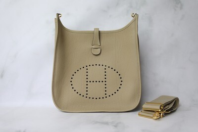 Hermes Evelyne III PM, Trench Clemence with Gold Hardware, New in Box WA001