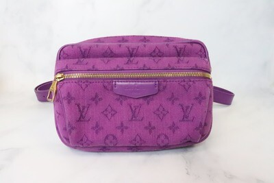 Louis Vuitton Outdoor Denim Bumbag, Purple, Preowned in Dustbag