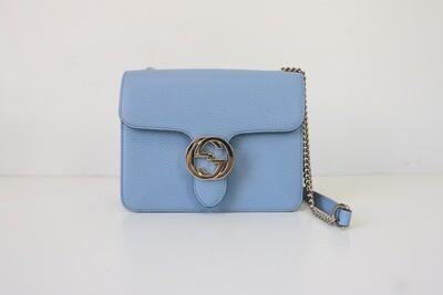 Gucci Blue Interlocing Bag, Preowned in Box
