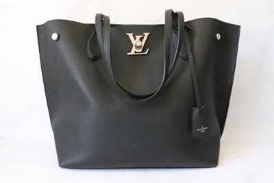 Louis Vuitton Tote, Black, Preowned in Dustbag