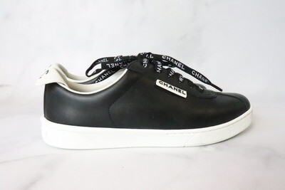 Chanel Shoes Black Calfskin Tennis, New in Box