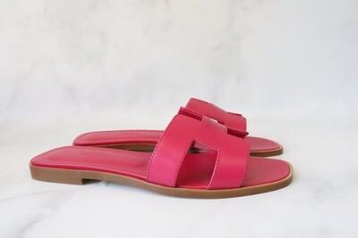 Hermes Oran Sandals Pink, New in Box