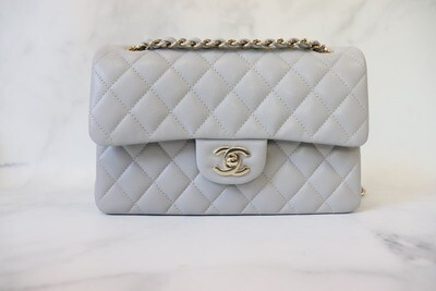 Chanel Classic Small Double Flap 21A Grey Caviar Leather, New In Box (Pre Order)