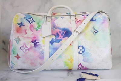 Louis Vuitton Watercolor Keepall B, New in Dustbag