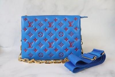 Louis Vuitton Coussins PM Blue/Orange, New in Box