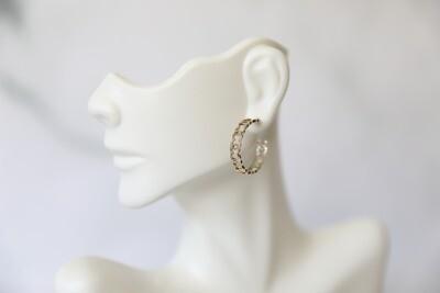 Chanel Earrings, CC Hoop, Light Gold, New in Box WA001