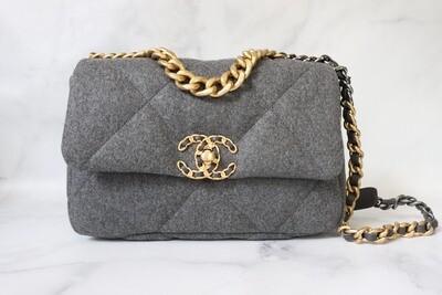 Chanel 19 Medium (Small) Grey, New in Box