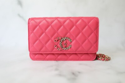 Chanel Wallet on Chain with Chain CC, Pink Caviar with Gold Hardware, New in Box WA001