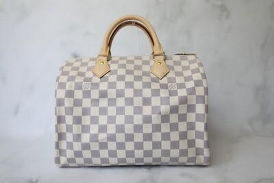 Louis Vuitton Speedy 30, Azur, As New in Dustbag WA001