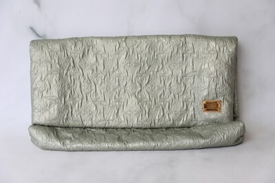 Louis Vuitton Limelight Clutch, Silver, Preowned no Dustbag WA001