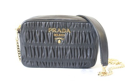 Prada Crossbody Camera Bag, Black, Preowned in Dustbag