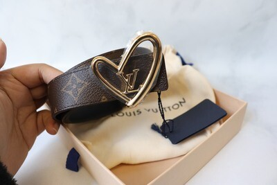 Louis Vuitton Belt, Heart Collection (Asia Exclusive), New in Box