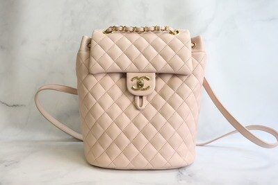 Chanel Urban Spirit Small 17C Pink Lambskin Leather, Gold Hardware, Preowned in Dustbag