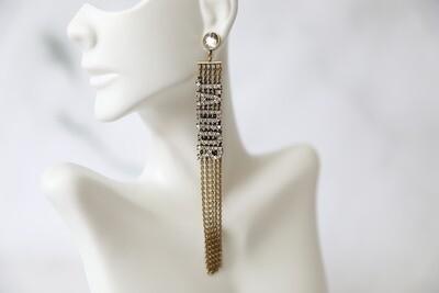 Dior J'Adior Crystal Drop Earrings, New in Dustbag WA001