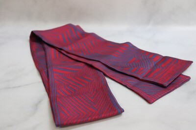 Louis Vuitton Twilly Bandeau Red with Blue, New - No Box