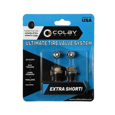 COLBY VALVE 2er Pack, Ultimate Tyre Valve System, EXTRA SHORT!!!