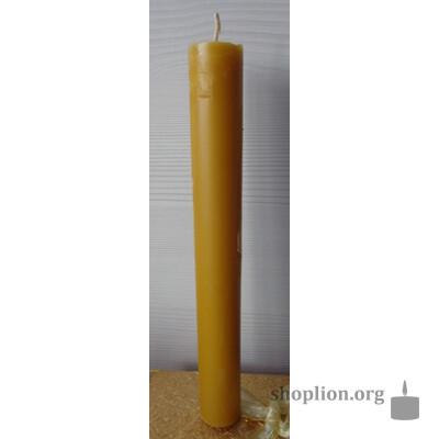 Свеча 120 гр, чистый воск.Применяется для очищения от негатива помещений и людей, также для лечения болезней. Усиливает энергетику и защитные функции организма человека.
