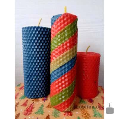 Набор ароматизированных свеч из вощины