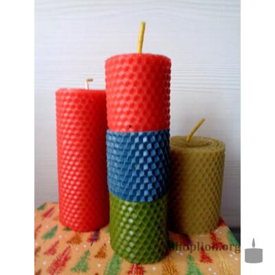 Набор ароматизированных свеч из вощины 2