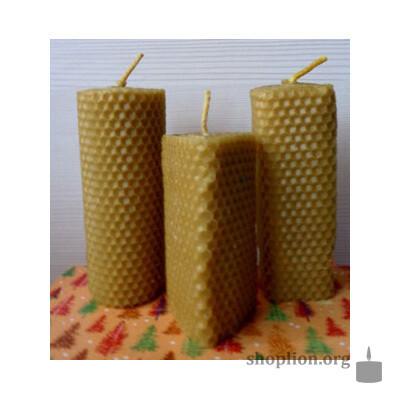 Набор ароматизированных свеч из вощины 3