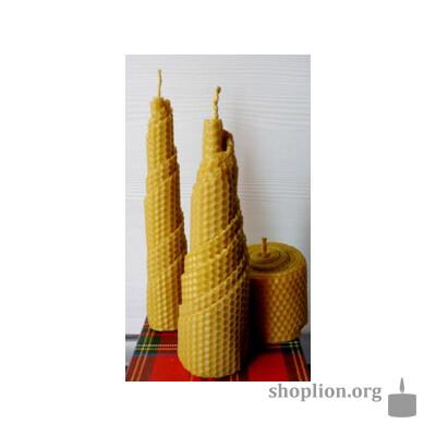 Набор ароматизированных свечей из вощины