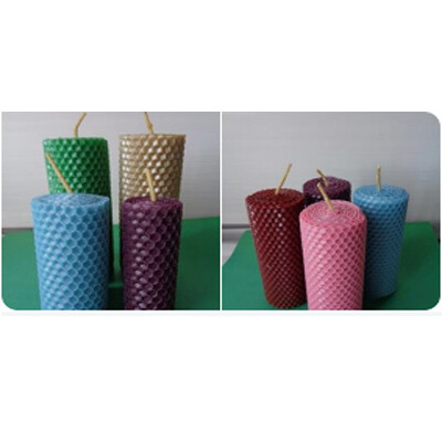 Цветные наборы свечей из вощины с ароматизаторами, на выбор