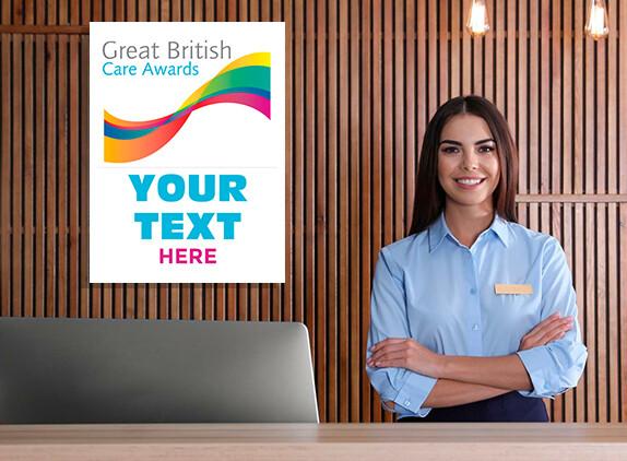 Great British Care Awards - PVC Board