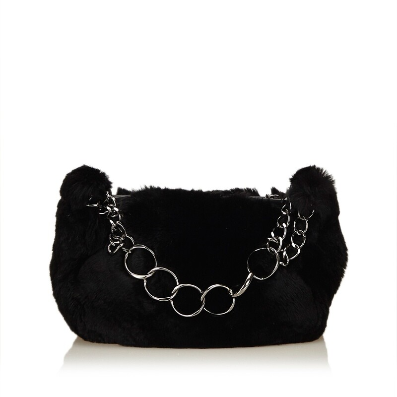 Chanel Fur Chain Handbag