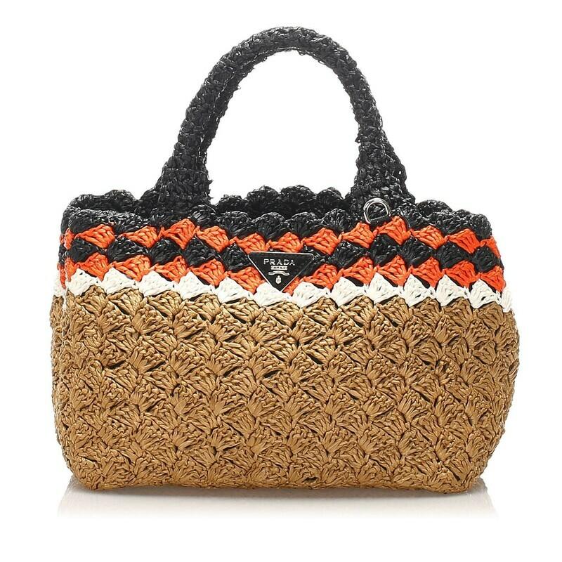 Prada Straw Handbag