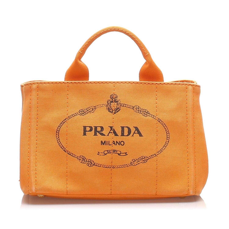 Prada Orange Canapa Tote