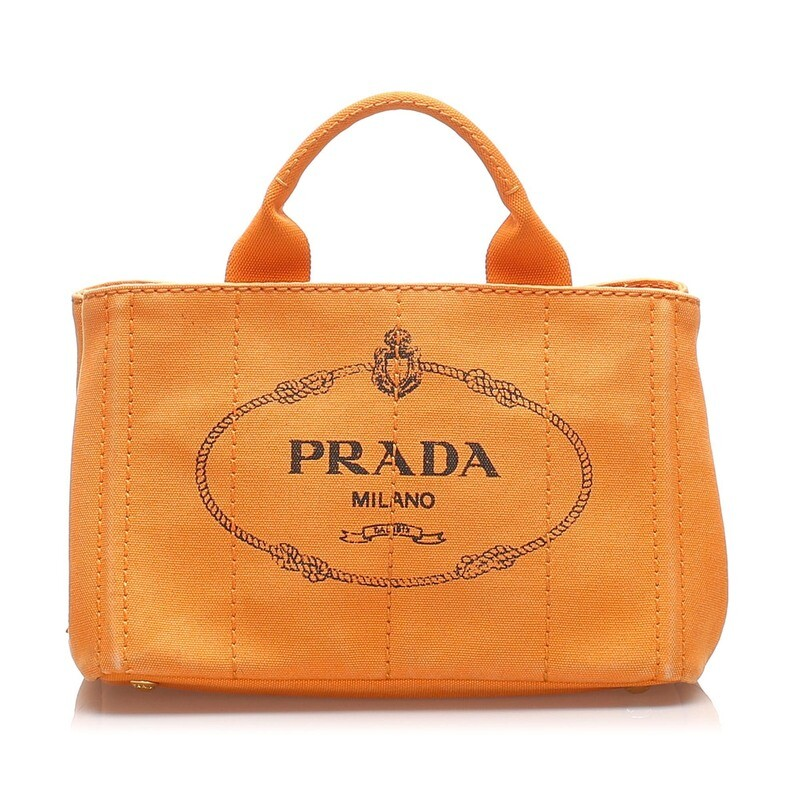 Prada Orange Canapa Tote