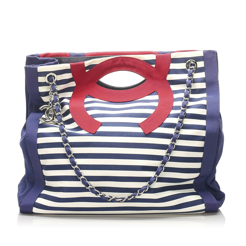 Chanel CC Canvas Tote Bag