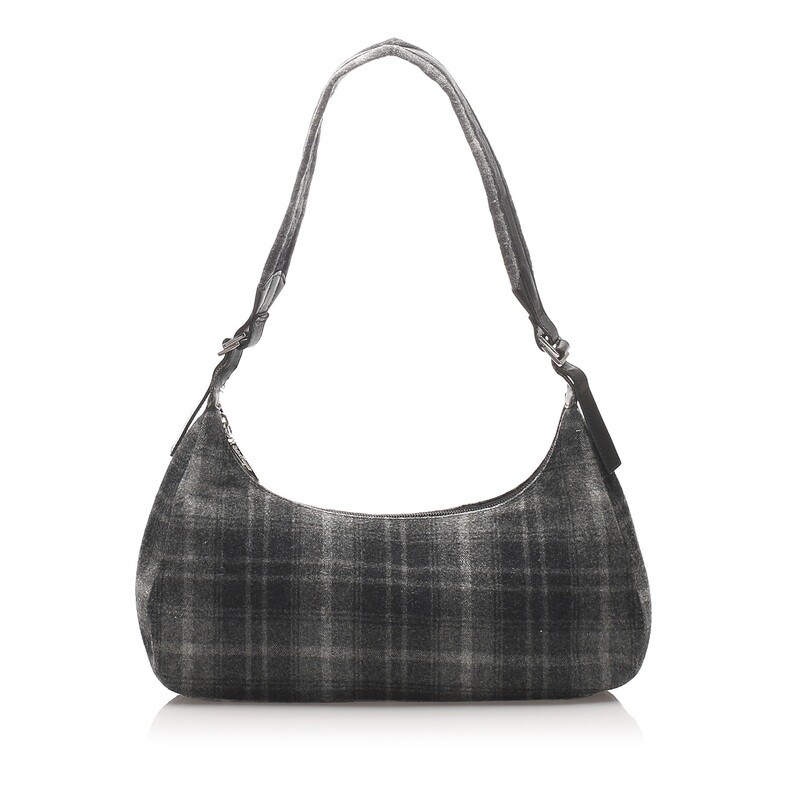 Ferragamo Plaid Wool Shoulder Bag