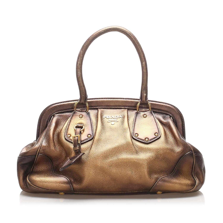 Prada Frame Leather Handbag
