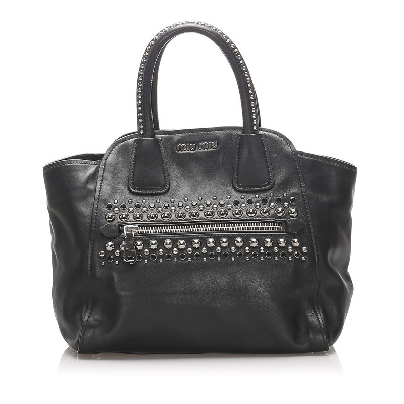 Miu Miu Studded Leather Handbag