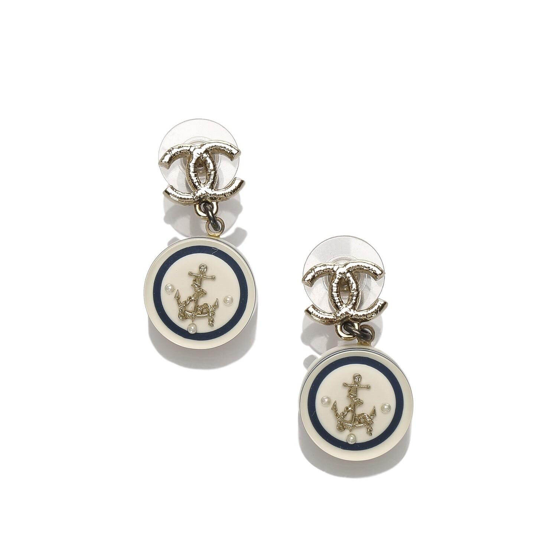 CC Anchor Drop Earrings