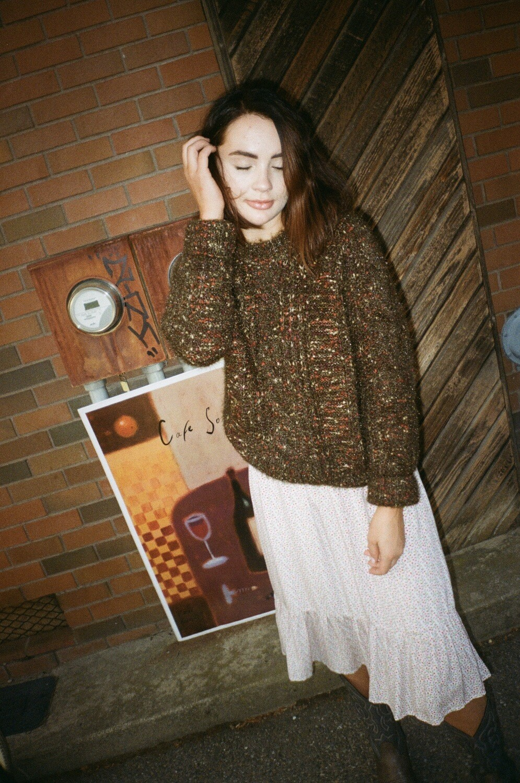 tweedy sweater