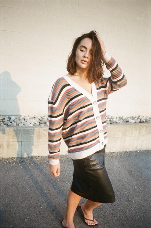 fall stripe cardigan