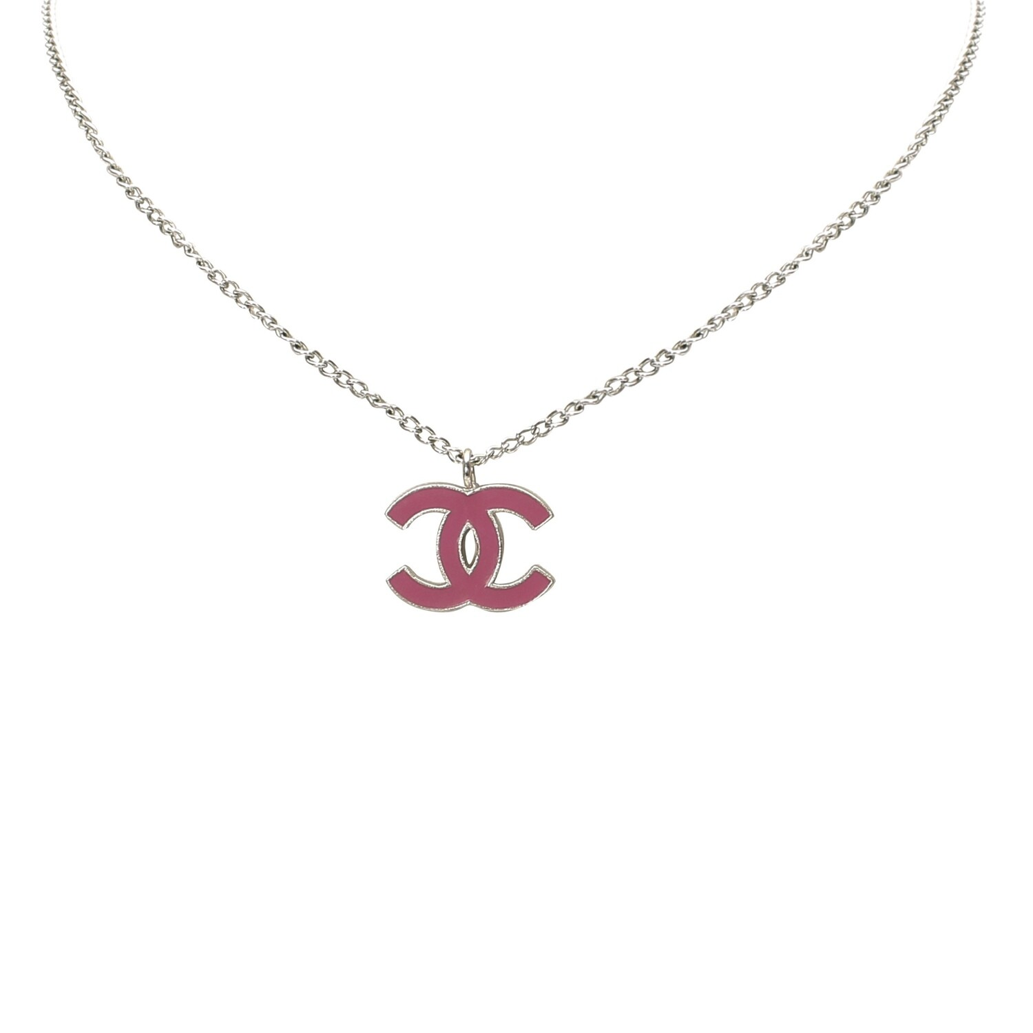 Pink CC Necklace