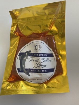 Cold Smoked Scottish Trout Bellies Strips