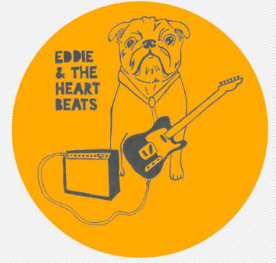 Eddie and the Heartbeats Sticker (5 pack)