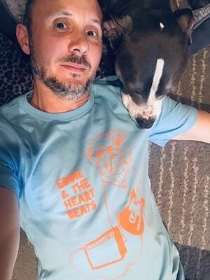 Eddie and the Heartbeats Blue/Orange T-shirt