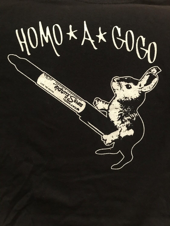 Homo A Go Go 2004 Dirty Bunny T-shirt black/white