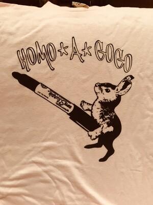 Homo A Go Go 2004 Dirty Bunny T-shirt pink/black