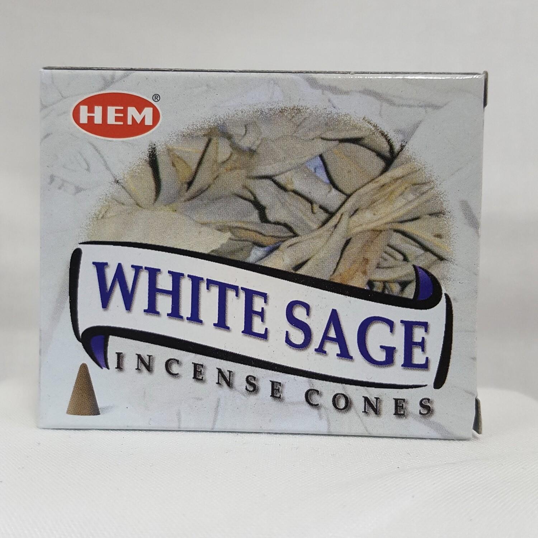 WHITE SAGE HEM CONES