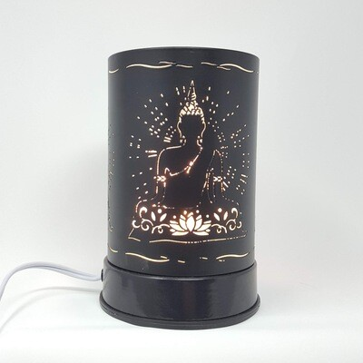 BLK/FROSTED BUDDHA TOUCH LAMP