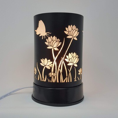 BLK METAL FROSTED FLOWERS TOUCH