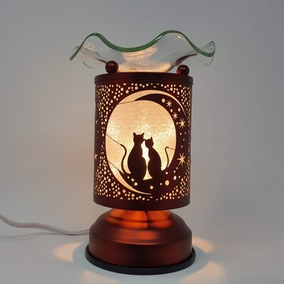 CATS MOON COPPER TOUCH LAMP
