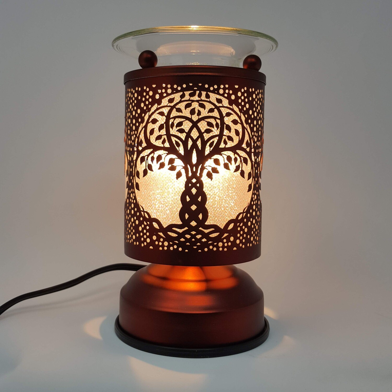 TREE OF LIFE COPPER TOUCH LAMP